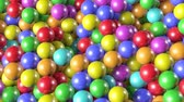 Animation shiny, colored balls for children. 3d animation