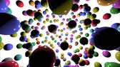 Animation of 3D shiny, colored balls for children. 3d illustration.