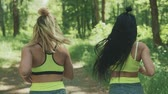 energy body : Backview of Fitness women jogging outdoors. Healthy lifestyle concept