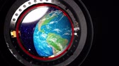 universe inside : View from a porthole of space station