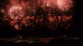 zafer : Amazing Firework Show Russia Moscow. Accelerated Stok Video