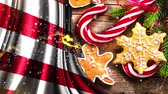 brožura : Christmas or New Year background with United States flag