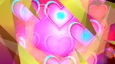 amante : Shiny heart. Valentines Day. Background with a red hearts Stock Footage