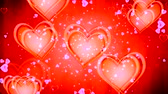 invitation card : Shiny heart. Valentines Day. Background with a red hearts Stock Footage