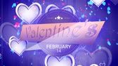 conservar : Happy Valentines Day Badges Pack. Valentines Day. Transparent Background Stock Footage