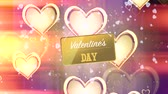 ziyafet : Happy Valentines Day Badges Pack. Valentines Day. Transparent Background Stok Video