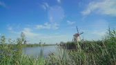 mulino farina : Old wind mill in Holland. The netherlands