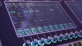 performing arts event : Console or mixer, the levers and buttons of the remote Stock Footage