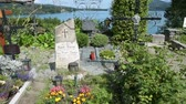 memorial : the cemetery of the sanctuary of Maria Worth, Carinthia, Austria Stock Footage
