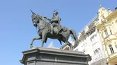 article : the statues of the ban JosipJelacic in Zagreb
