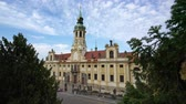 barok : view of the facade of the Loreta church in Prague, Czech republic