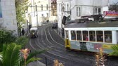 kablolar : The famous tram n.28 on the streets of the center of Lisbon, Portugal
