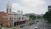 entrada da garagem : Singapore, January 2020. Time lapse view of the building the fire station in the city center Stock Footage