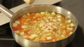 potato casseroles : Cooking soup with beans and vegetables