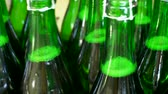 ремень : Champagne bottles on factory conveyor belt