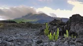 travel : Dead deserted land covered by volcanic lava rock and magma. Scenic nature view