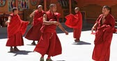 monge : Himalaya traditional Buddhist event in Likir monastery, Ladakh, northern India Stock Footage
