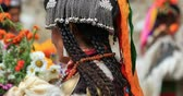 ladakh : Portraits of tribal people at athnic ceremony and festival in Ladakh, Himalaya Stock Footage