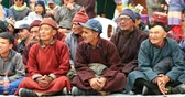 ladakh : Ladakh tribal people watching dance performance during festival in Himalaya