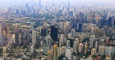 Bangkok, Thailand aerial city scape view from above. Dense urban development and construction district in sout east Asia Dostupné videozáznamy