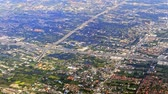 Residential development in suburbs of Bangkok aerial view