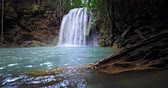 dinginlik : Scenic waterfall in wild nature of tropical forest