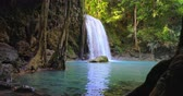 virgem : Waterfall and emerald pool in wild nature of Thailand jungle forest