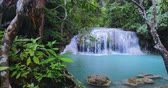 panna : Peaceful nature background of waterfall in tropical jungle forest