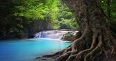 virgem : Thailand beautiful nature landscape. Waterfall in tropical jungle forest