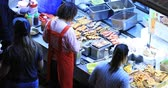 wan : Traditional Asian Cuisine Famous Among Travelers And Tourists Visiting Hong Kong Stock Footage
