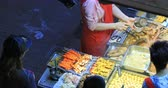 wan : Traditional Asian Cuisine On Streets Of Hong Kong. Local Street Food For Sale Stock Footage