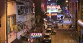 luz : Old Hong Kong district in Wan Chai area at evening. Urban scene and downtown view