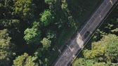 road top view : Flight over the jungle in Southeast Asia. Stock Footage