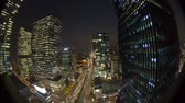 human eye : Seoul City Downtown Gangnam - Time lapse of traffic and architecture in downtown Gangnam. Seoul, Korea.