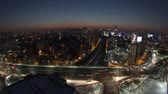 human eye : 117) Zooming time lapse of traffic and architecture in Yeouido. Seoul, Korea.