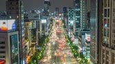 human eye : Seoul City Birds Eye Traffic - Zooming time lapse of traffic and city lights in Gangnam Seoul.