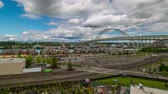 eye : Time lapse of portlands NW industrial area and the freemont bridge