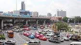 BANGKOK, THAILAND - FEB 20, 2015: Usual traffic load on February, 2015 in Bangkok, Thailand. The workload of the on road remains problem in Bangkok despite rapid development of public transportation