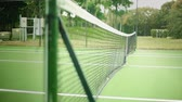 çiftler : Daylight Shot of Net at Tennis Court from Inside of the Court Stok Video