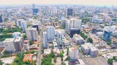 destino de viagem : Aerial shot of Caribbean island Dominican Republic downtown area with buildings