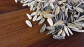 kernels : Sunflower Seeds Macro View Stock Footage