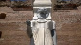 ancient egypt : Egyptian Goddess Statue in Red Bazilica of Bergama in Turkey