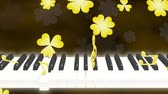 bounces : Piano note clover loop 2 pattern dark background