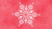 cristais : Snow crystals loop bright background