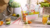 refrescante : Making fruity lemonade in the summer kitchen