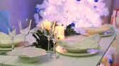 eleganckie : Christmas tree with presents and beautiful table setting