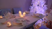 noruega : Beautifully decorated table for Christmas Eve