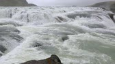 nevoeiro : Big waterfall Gullfoss in Iceland