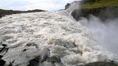 incrível : Biggest in Europe waterfall Dettifoss with river in Iceland