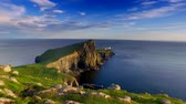 norte : Beautiful sunset at Neist point lighthouse, Scotland, United Kingdom